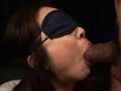 Beautiful naughty angel Nanako Misaki gets blindfolded and