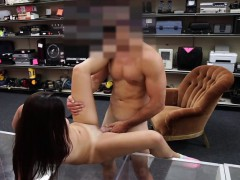 Teen flashes tits and ass in the shop