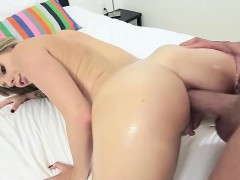 Hot ass teen blonde Trisha nice anal fuck for the first time