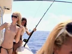 Hot babes frisky fishing and exhibition biking while naked