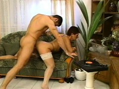 Hairy mature fucked on all fours