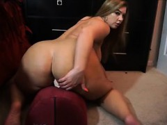 Warm BBW trying her new dildo out