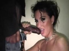 Nasty woman enjoys pole that is black