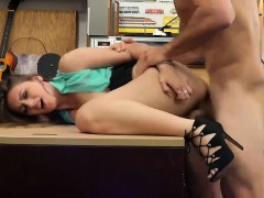 Natural tits babe deeply pounded by pervert pawn guy