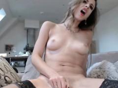 British Hottie Fucking Dildo that Facialized Her