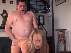Grandpa Fucks Beautiful Young Girlfriend Pussy Mouthful