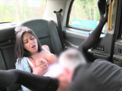 Big Juggs Passenger In Stockings Railed By The Driver