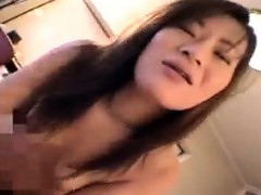 Mesmerizing Japanese girl with nice boobs is a sucker for h