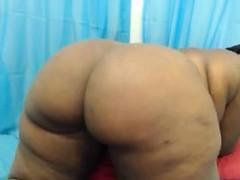 Hot Black Gf Teasing And Fingering Her Ass