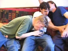 First Timers Amateur Gay Threesome