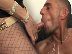 Busty Trannies And Their Lovers Spilling Cum