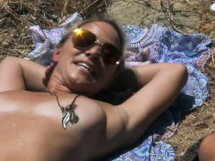 Hot And Sexy Cougars Went On Nudist Trail For Tanning