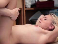 Blonde Thief Zoey Clark Gets Pounded In Office