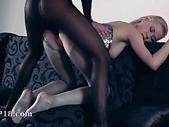 Hot lesbs in pantyhose again in action