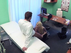 Hot Ass Blonde Fucking Doctor In Office