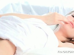 Smashing Gloria playing with both her fuck holes