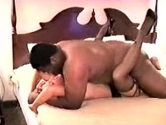 Hardcore interracial sex with blonde MILF