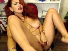 ImmoralLive REDHEAD BABE with BIG BOOBS fucked here