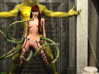 3D Girls Ruined by Scary Alien Monsters!