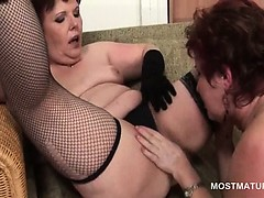 Nasty orgy with mature babes licking pussies and sucking