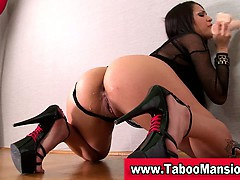 Bdsm fetish babe toying her ass