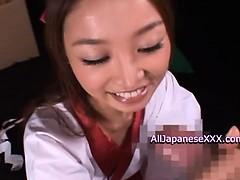 Sarasa Asian schoolgirl gets cum facial