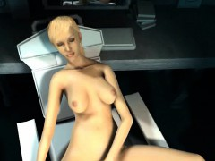 Hot 3D blonde babe getting toyed and fucked hard