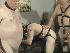 Gay Guys In Leather At An Orgy