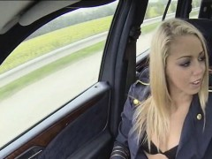 Christen unbuttoned her dress and started sucking cock