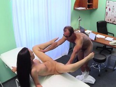 Sexy tattooed patient fucking her doctor in fake hospital
