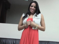 Dicking audition with a juggy Latina bombshell