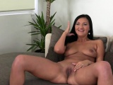 Tanned Euro babe banged on casting