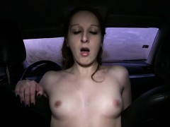 Babe sucked and fucked with fake driver for 5000 crowns