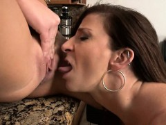 Stepmom Sara Jay and teen bitch tag teamed on hard cock