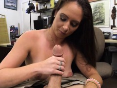 Ex dominatrix sells her stuff and fucked at the pawnshop