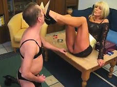 Mean Blonde Woman Gets Her Body Worshipped