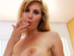 Blonde MILF Bakes And Strips In The Kitchen