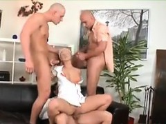 Blonde Teen Double Penetrated In A Foursome