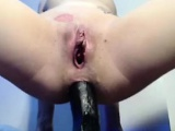 Gorgeous Amateur Girl Friend Extreme Anal Dildo Ass To Mouth