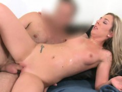 Horny blonde fuck and sweat in casting