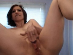 12 Inch Dildo all in her ass and a hot squirt