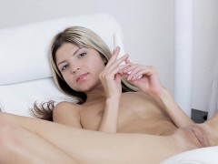 Large tittied and so sexual cutie is touching twat tenderly