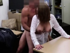 Busty Bitch gets pounded hardcore style in the pawnshop