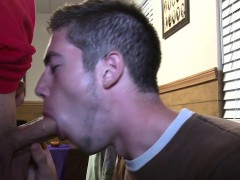 Straight amateurs humiliated with cocksucking
