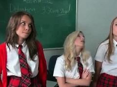 School blonde pussy licked on teachers desk