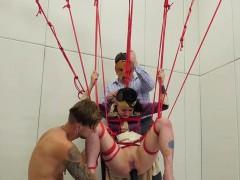 Slutty sweetie is taken in anal hole assylum for harsh thera
