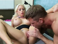 Nice Tits Blonde Sucks And Fucks In Class Sammie Spades