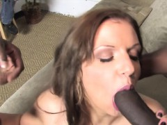 Poor Cuckold Watching Whitney Fears In A Black GangBang