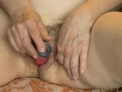 OmaPasS Hairy Granny Pussy Masturbated With Vegetable