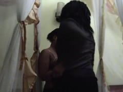 A sexy amateur ebony babes in a steamy lesbian adventure in